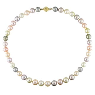 Miadora 14k Yellow Gold South Sea, Tahitian and Freshwater Pearl Necklace
