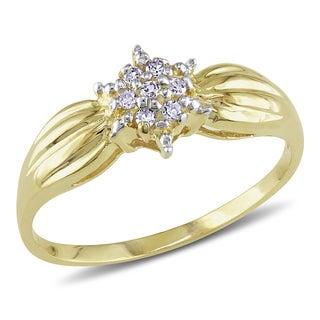 Miadora 10k Yellow Gold Diamond Promise Ring (J-K, I2-I3)
