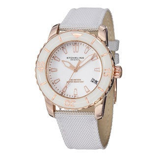 Stuhrling Original Women's Lady Vector White Strap Watch