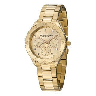 Stuhrling Original Women's Gala Goldtone Japanese Quartz Bracelet Watch