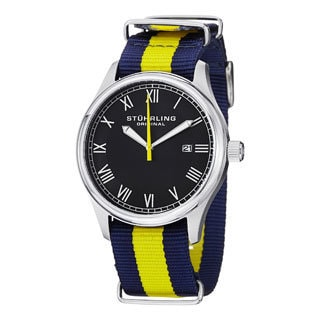 Stuhrling Original Men's Liberty Quartz Blue-and-Yellow Strap Watch