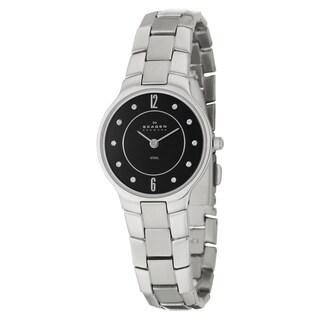 Skagen Women's 'Glitz' Stainless Steel Japanese Quartz Watch with Crystal Accents