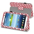 BasAcc Red/ White Dot Stand Leather Case for Samsung Galaxy Tab 3 7.0
