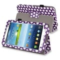 BasAcc Purple/ White Stand Leather Case for Samsung� Galaxy Tab 3 7.0