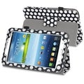 BasAcc Black/ White Stand Leather Case for Samsung� Galaxy Tab 3 7.0