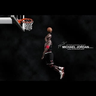 NBA Michael Jordan Away Black Jersey 1:6 Figure with Air Jordan I/XIII