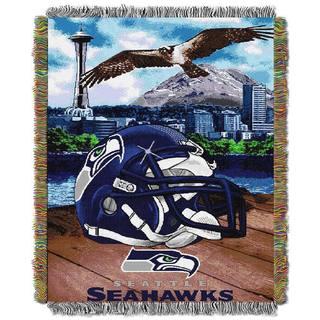 NFL Helmet Woven Tapestry Throw
