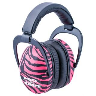 Pro Ears NRR 26 Ultra Sleek Hearing Protection Pink Zebra Ear Muffs