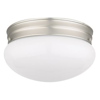 Electric Opal 1-light Satin Nickel Flush Mount
