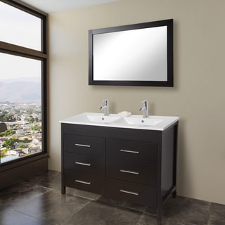VIGO 48-inch Maxine Double Bathroom Vanity and Mirror
