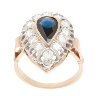 Pre-owned 14k Yellow Gold 4/5ct TDW Sapphire Estate Ring (H-I, VS1-VS2)