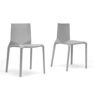 Baxton Studio Zetta Plastic Stackable Modern Dining Chairs (Set of 2)