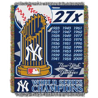 MLB World Series Woven Tapestry Throw