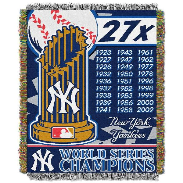 MLB World Series Woven Tapestry Throw 12160558