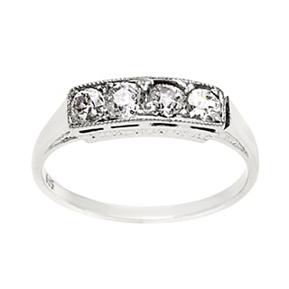 14k White Gold 2/5ct TDW Antique Diamond Band Ring (H-I, SI1-SI2)