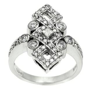 14k White Gold 3/4ct TDW Diamond Estate Ring (I-J, SI1-SI2)