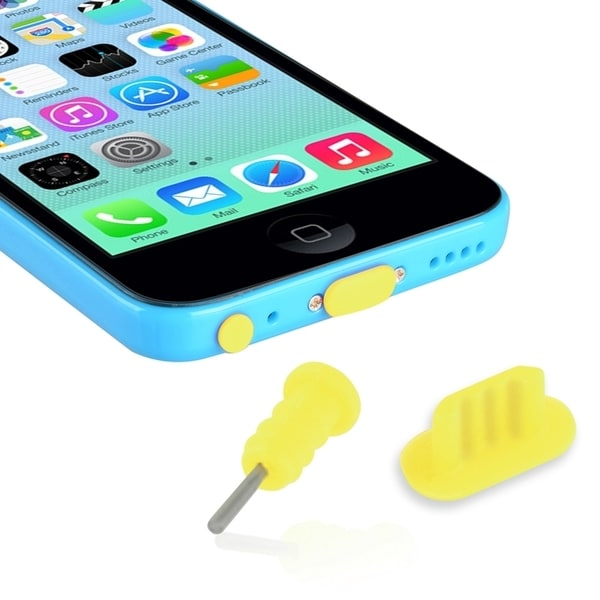 INSTEN Headset Dust Cap/ USB Port Plug for Apple iPhone 5/ 5S/ 5C/ 4S/ 4/ 6