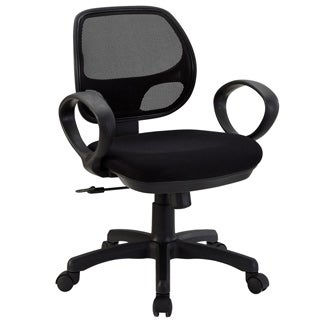 Panorama Black Swivel Office Chair