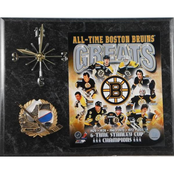 Boston Bruins 'All Time Greats' Clock 11975491