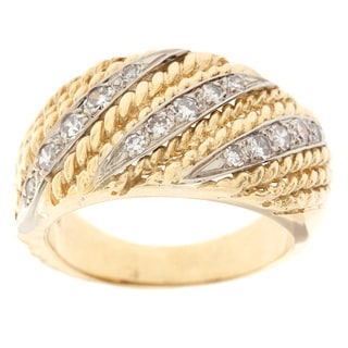 18k Yellow Gold 1/2ct TDW Diamond Stripe Estate Ring (H-I, SI1-SI2)