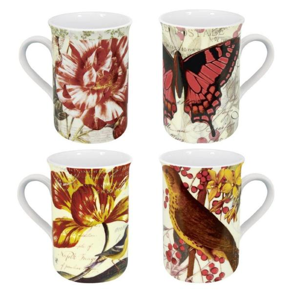 Konitz Assorted Botanical Mugs (Set of 4)