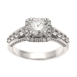 Sofia 14k White Gold 1 3/4ct TDW Certified Round Diamond Ring (H-I, I1)