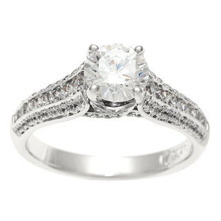 Sofia 14k White Gold 1 1/2ct TDW Diamond Engagement Ring (H-I, I1)