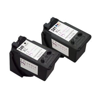 Sophia Global Remanufactured PG-240XL Black and CL-241XL Color Ink Cartridges (Pack of 2)