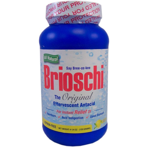 Brioschi 4.25-ounce Effervescent Antacid (Pack of 6)