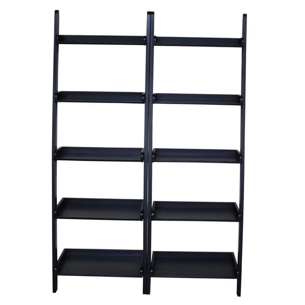 Lean to Shelf Unit with 5 Shelves