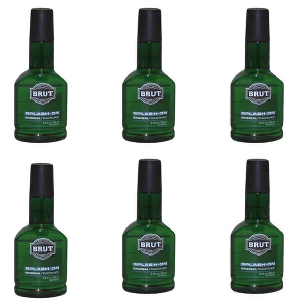 Brut Splash-On 3.5-ounce Original Fragrance (Pack of 6)