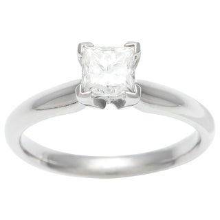 18k Gold 3/4ct TDW Certified Diamond Solitaire Engagement Ring (E-F, SI2)