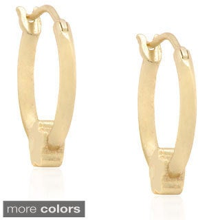 Molly and Emma Silver Children's Flower Hoop Earrings