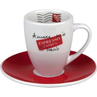 Konitz Coffee Bar Amore Mio Espresso Dippio Cups and Saucers (Set of 4)