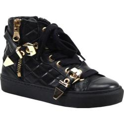 Women's Bronx Kay Tee Black/Gold Nappa Leather