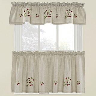 Bowl Of Cherries Curtain Tier Set