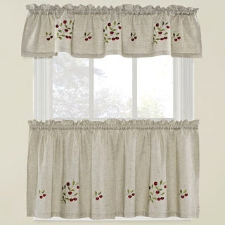 Bowl Of Cherries Curtain Tier Set