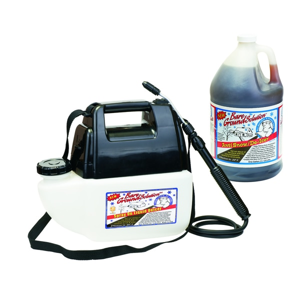 Bare Ground 1-gallon Battery Sprayer with Liquid Spray-on Ice Melt Deluxe System