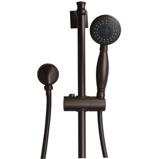 Jado Illume Complete Old Bronze Adjustable Hand Shower Assembly