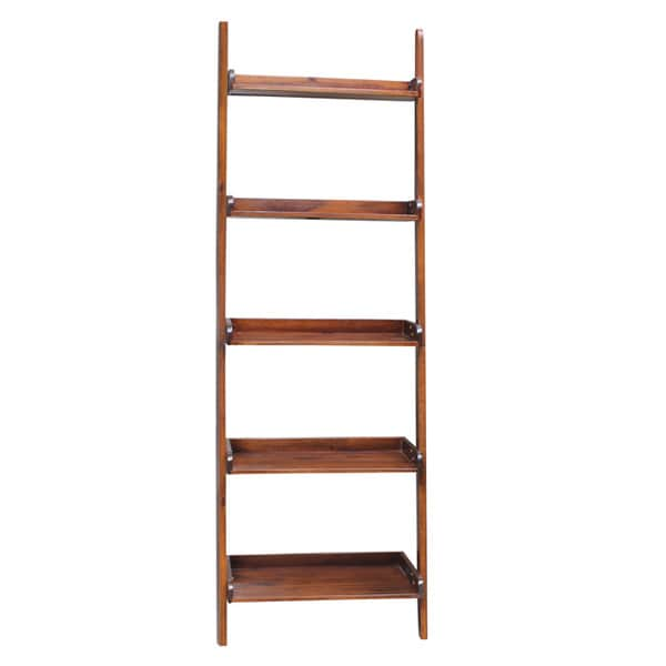 Brown Lean-to 5-tier Shelf Unit