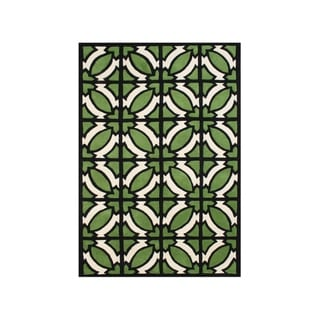 Hand-tufted Jet Black Blended Wool Area Rug (9' x 12')