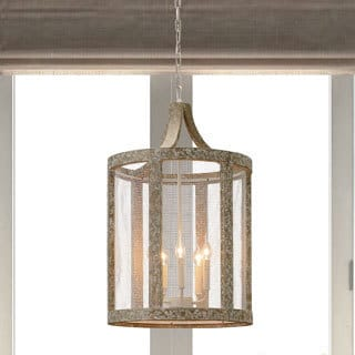 Beach Drift and White Mesh Basalt Ceiling Lamp Pendant