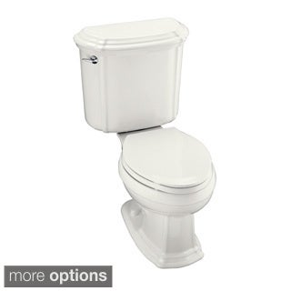 Kohler K-3591 Portrait Two-piece Elongated 1.6 GPF Left-hand Ttrip Lever Toilet and Ingenium Flush Technology
