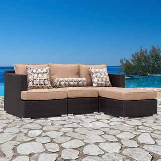 Corvus Morgan 4-piece Modular Outdoor Seating Set with Sunbrella Fabric Cushions and Pillows