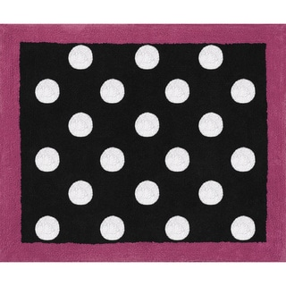 Sweet JoJo Designs Hot Dot Modern Accent Floor Rug