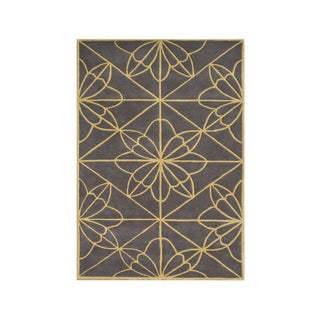 Alliyah Handmade Teak New Zealand Blend Wool Rug (9' x 12')