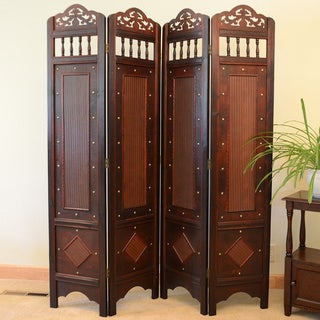 Jamestown Room Divider Screen 4-panel Wooden Frame (China)