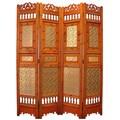 Roman Shabby Room Divider Screen 4-panel Wooden Frame