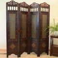 Charleston Room Divider Screen 4-panel Wooden Frame