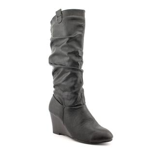 Rampage Women's 'Swift 1' Pull-On Faux Leather Boots